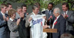 Greeting World Baseball Champion Los Angeles Dodgers in Rose Garden and Being Presented with Jersey.png