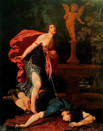 Pyramus and Thisbe - Pyramus and Thisbe by Gregorio Pagani. Uffizi Gallery.