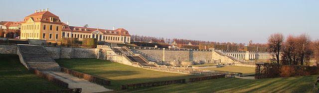 Panorama-Ansicht des Barockgartens Großsedlitz bei Dresden
