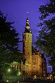 Groningen - provinciehuis met toren bij avond.jpg