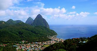 Pitons - Image: Gros Piton and Petit Piton in Saint Lucia