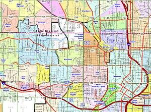 Grove Park, Atlanta - Grove Park (light blue, upper left) in northwest Atlanta