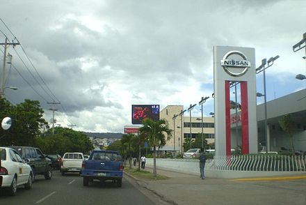 Nissan car dealership on Central America Blvd, across the street from Plaza Miraflores Mall Grupo Q Tegucigalpa.jpg