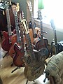 Guitar Collection - Gibson ES-335, Gretsch vintage, Fender Telecaster, Rickenbacker, National, Alvarez, Gretsch dobro, Banjo (2007-11-22 10.47.27 by L.K.).jpg