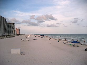 Gulf Shores, Alabama - Condominiums and hotels on the beach