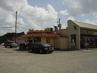 Gulfton, Houston - A shopping center in Gulfton