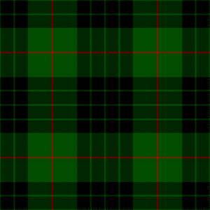 Clan Gunn - Clanngvn tartan, as published in 1842 in Vestiarium Scoticum.