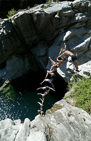 High diving - Cliff diving in Switzerland