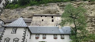 Stein Castle (Bavaria) - The cave castle seen from Stein