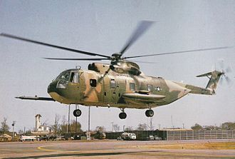 "Leland T. Kennedy - HH-3E ""Jolly Green"" helicopter. In 1966 the type did not yet have a refueling probe."