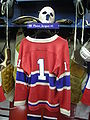 HHOF July 2010 Canadiens locker 15 (Plante).JPG