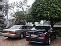 HK Shatin 沙田明星畫舫 Star Seafood Floating Restaurant outdoor carpart Lexus BMW 520i 試車牌 T License plate.jpg