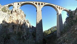 Varda Viaduct - Varda Viaduct seen from northwest.