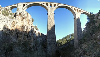 Varda Viaduct Railroad bridge in Turkey