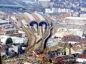 Hagen Hauptbahnhof - Hagen Hauptbahnhof from the air