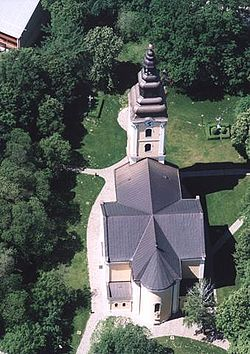 The Cathedral of Hajdúdorog from above
