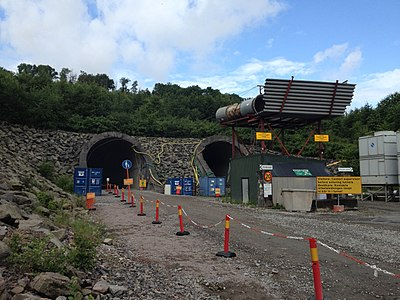 Bygget av tunneln genom Hallandsåsen
