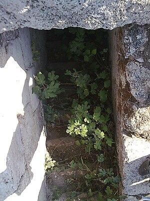 Tel Hanaton - Crusader stairs at Tel Hanaton