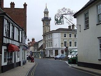 Redenhall with Harleston - Image: Harleston Clock Tower geograph.org.uk 534211