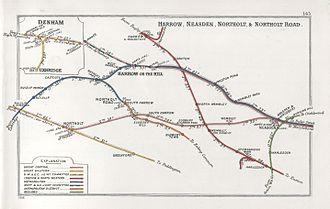 West Ruislip station - Image: Harrow, Neasden, Northholt & Northholt Road RJD 145