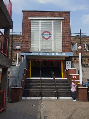Harrow-on-the-Hill station - Image: Harrow on the Hill stn south entrance