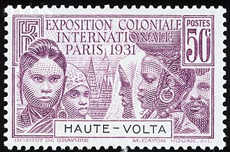Colonial Exposition Issue - Exposition Coloniale Internationale issue, Upper Volta 1931