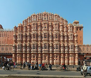 "Rajasthan - Hawa Mahal (""Palace of Winds"") in Jaipur"