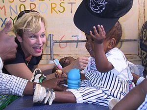 Heidi Baker - Heidi Baker in one of the Iris Global children's centers