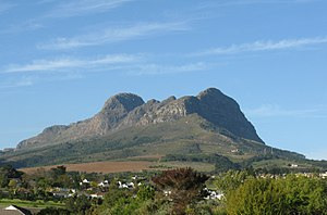 Helderberg - Helderberg Mountain seen more or less from the North-West