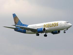 English: A Helios Airways Boeing 737-31S at Ru...