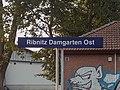 Helvetica station sign, Ribnitz-Damgarten (20180819 192440).jpg