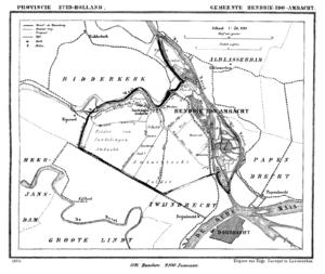 Hendrik-Ido-Ambacht - Hendrik-Ido-Ambacht in 1866