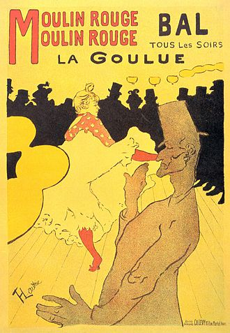 "Poster - ""Moulin Rouge - La Goulue""  Toulouse-Lautrec, 1891"