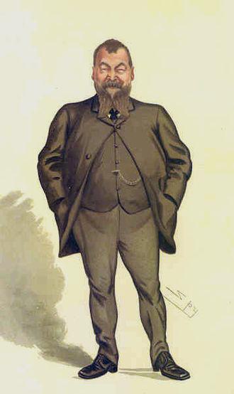 """Henry Broadhurst - """"the working-man Member"""" Broadhurst as caricatured by Spy (Leslie Ward) in Vanity Fair, August 1884"""