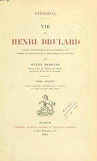 <i>The Life of Henry Brulard</i> novel by Stendhal