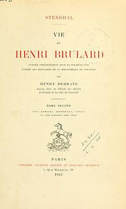 Image illustrative de l'article Vie de Henry Brulard
