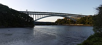 Henry Hudson Bridge - View from Inwood Hill Park