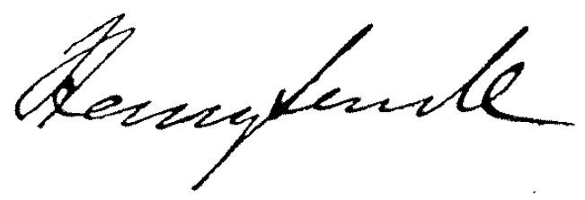 Henry Sewell's signature