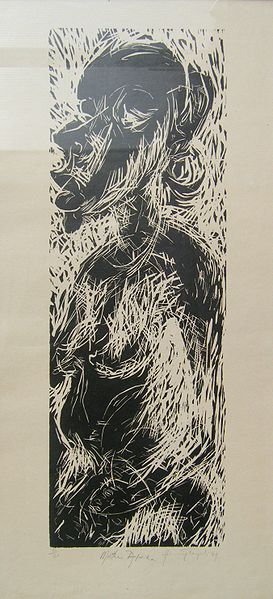 Archivo:Henry Tayali - Mother Afrika, 1974, Woodcut (6 of 20).JPG