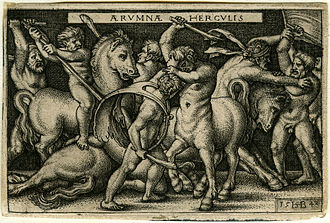 Little Masters - Image: Hercules fighting the Centaurs