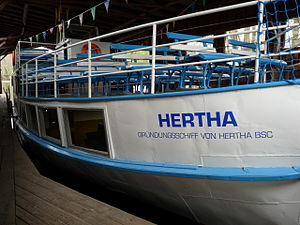 Hertha BSC - The ship that gave name to the club.