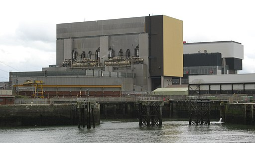 Heysham Power Station, from dockside