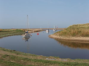 River Alt - Yachts moored at the mouth of the River Alt
