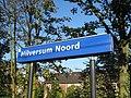 Hilversum Noord railway station sign.jpg