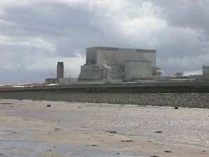 Hinkley Point B Nuclear Power Station - Hinkley Point B seen from the beach
