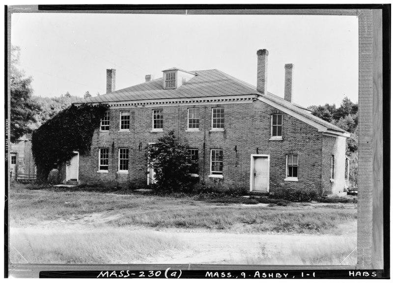 File:Historic American Buildings Survey Arthur C. Haskell, Photographer (a) EXT.- FRONT, LOOKING SOUTH - Asa Kendall House, South Road, Ashby, Middlesex County, MA HABS MASS,9-ASHBY,1-1.tif