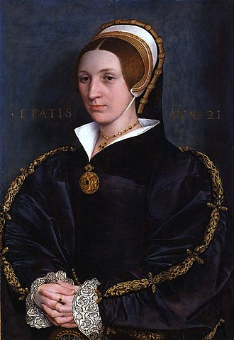 Holbeinesque jewellery - Portrait of Elizabeth Seymour  by  Hans Holbein the Younger