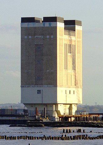 Holland Tunnel - Hudson River ventilation tower in Jersey City