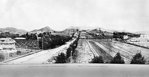 Hollywood and Vine - The intersection of Hollywood and Vine (looking north) in 1907 showed only farmland