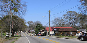Homer, Georgia - A view of downtown Homer's main street